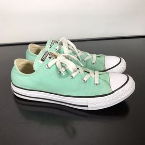 Youth Converse All Star Mint Green canvas Sz 3